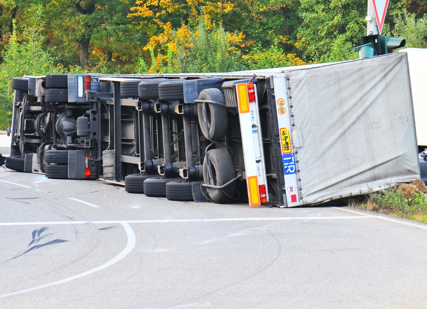 Truck accident caused by driver negligence