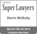 Devin McNulty Super Lawyers Badge